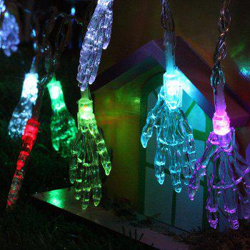 10-LED Halloween Skull-Head String Lights Decorated Colored Lamp - COLORFUL