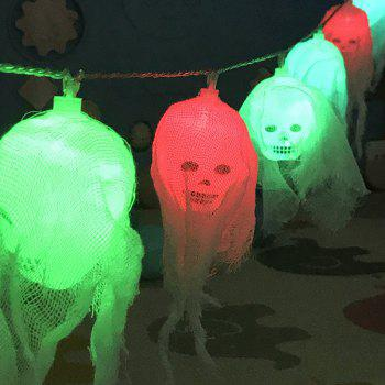 10-LED Halloween Ghost Skull String Lights Decorated Colored Lamp -  COLORFUL