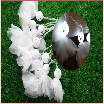 10-LED Halloween Ghost string Lights Decorated Colored Lamp - WHITE