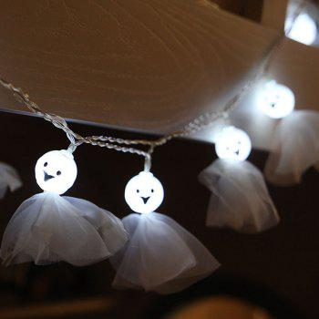 10-LED Halloween Ghost string Lights Decorated Colored Lamp - WHITE WHITE