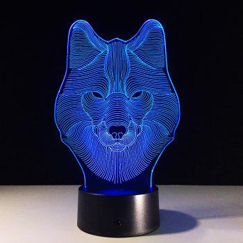 Yeduo Animal Wolf Decor 3D Led Nightlights Colorful Wolf Design Table Lamp Teen Wolf Illusion Lights Bedroom Modern Decor - COLORMIX COLORMIX