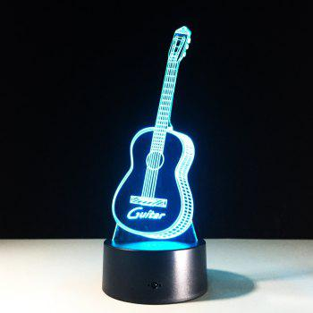 Yeduo New Action Figure 7 Colors Guitar 3D Visual Led Night Lights As Bedroom Table Lamp Best Gifts for Kids Friends Acrylic -  COLORMIX