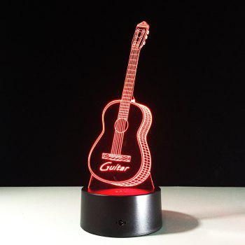 Yeduo New Action Figure 7 Colors Guitar 3D Visual Led Night Lights As Bedroom Table Lamp Best Gifts for Kids Friends Acrylic - COLORMIX COLORMIX