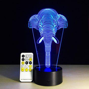 Yeduo 7 Color Change Light Elephants Lights Acrylic Vision 3D Stereoscopic Light Led Lamp Touch Switch Gift Holiday Light - COLORMIX