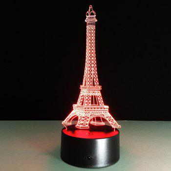 Yeduo Romantic France Eiffel Tower 3D Led Night Light Rgb Changeable Mood Lamp Usb Decorative Table Lamp Kids Friends Gift - COLORMIX COLORMIX