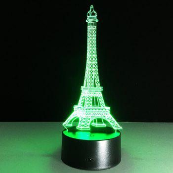 Yeduo Romantic France Eiffel Tower 3D Led Night Light Rgb Changeable Mood Lamp Usb Decorative Table Lamp Kids Friends Gift -  COLORMIX