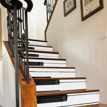 Piano Keys Style Stair Sticker Wall Decor - MIXED COLOR MIXED COLOR