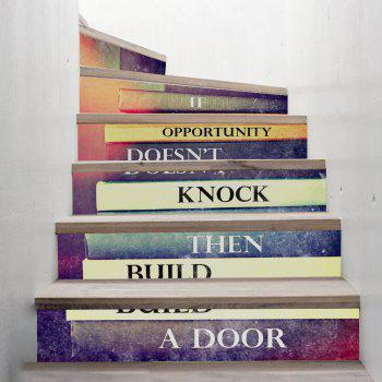 Inspirational Book Style Stair Sticker Wall Decor - MIXED COLOR MIXED COLOR