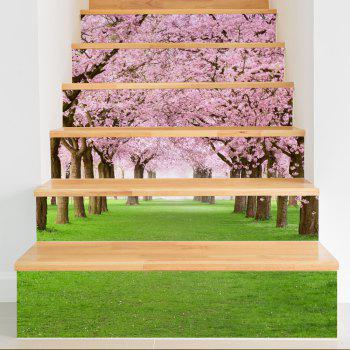 Sakura Style Stair Sticker Wall Deco - COULEUR MELANGER 18 X 100CM X 6 PIECES