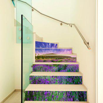 Lavender Style Stair Sticker Wall Decor - MIX COLOR 18 X 100CM X 6 PIECES