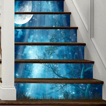 Moon Forest Stair Sticker Wall Decor - MIXED COLOR MIXED COLOR