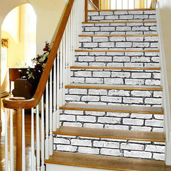 Brick Wall Style Stair Sticker Wall Decor - MIXED COLOR 18 X 100CM X 6 PIECES