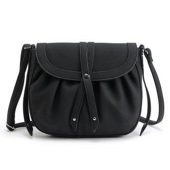 Ruffle Rivets Crosbody Saddle Bags