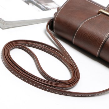 Solid Color Buckle Crossbody Bags - COFFEE 1PC