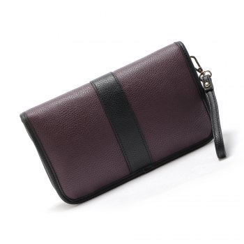 Pochette en relief Color Block - Violet S 1PC