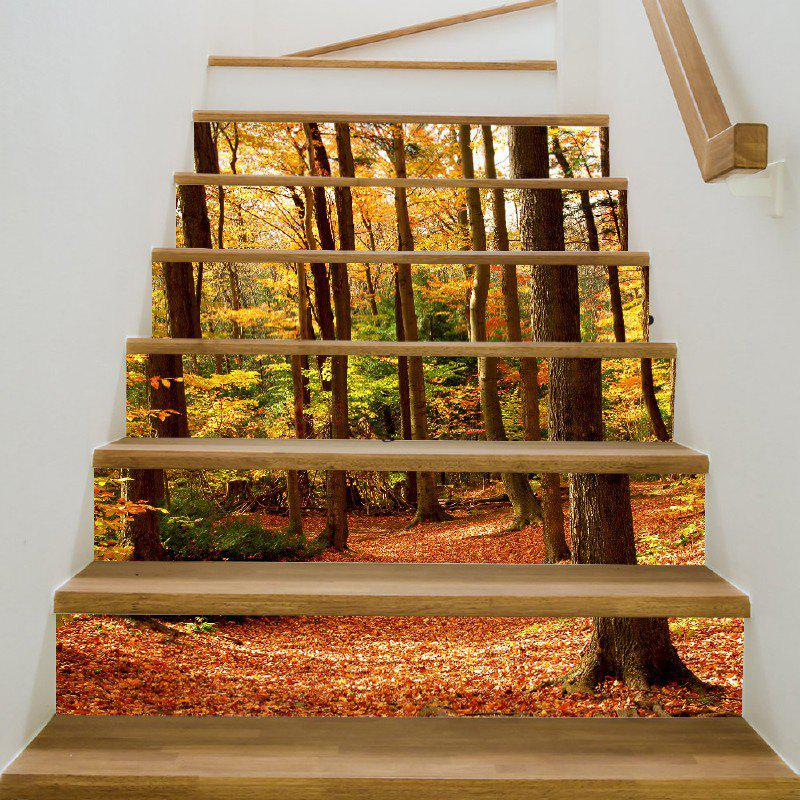 Fall Forest Style Stair Sticker Wall Decor - MIX COLOR 18 X 100CM X 6 PIECES