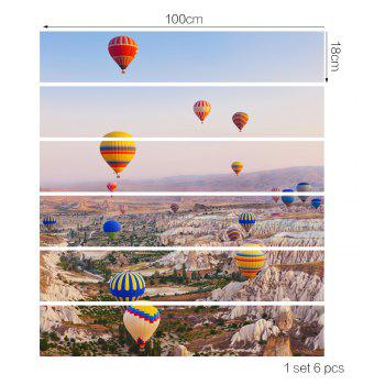 Hot Air Balloon Style Stair Sticker Wall Deco - COULEUR MELANGER 18 X 100CM X 6 PIECES