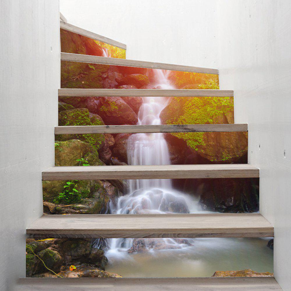 Waterfall Style Stair Sticker Wall Decor - MIXED COLOR 18 X 100CM X 6 PIECES