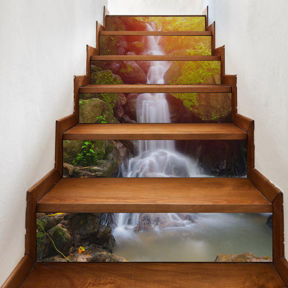 Waterfall Style Stair Sticker Wall Deco - COULEUR MELANGER 18 X 100CM X 6 PIECES