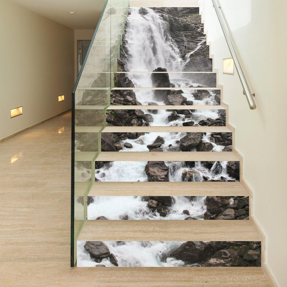 28 Best Stairway Decorating Ideas And Designs For 2019: 2018 Waterfall Style 13 Pieces Stair Sticker Wall Decor