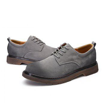 Wild Low To Help Martin Shoes Retro Casual Shoes - GRAY 40