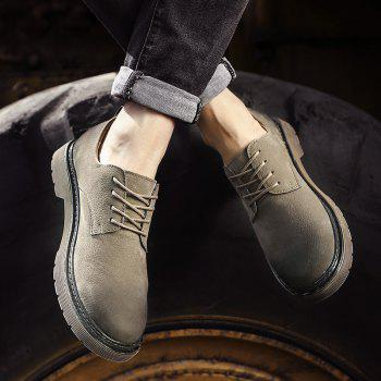 Wild Low To Help Martin Shoes Retro Casual Shoes - KHAKI 42
