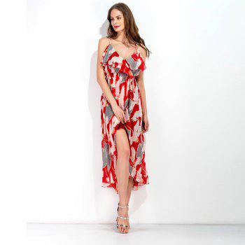Beach Harness Dress - RED M