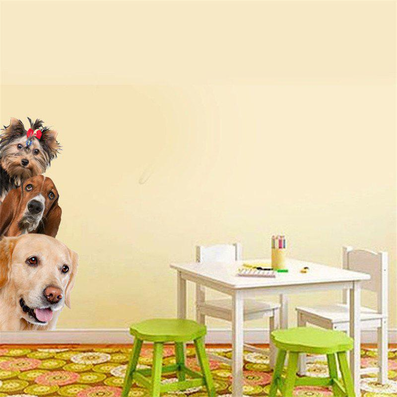 Home Decoration Cute Dog 3D Removable Wall Stickers home decoration removable quote wall art sticker