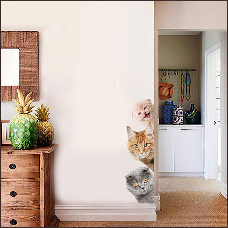 Home Decoration Cute Cat 3D Removable Wall Stickers home decoration removable quote wall art sticker