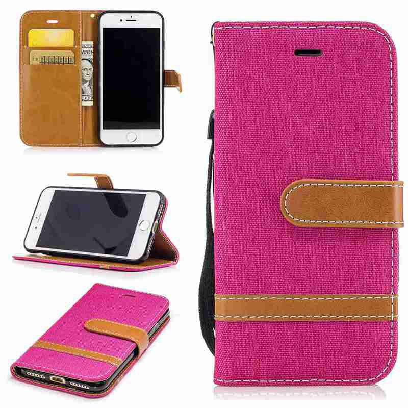 Fight Color Denim Pu Phone Case for Iphone 6 6S gumai silky case for iphone 6 6s black
