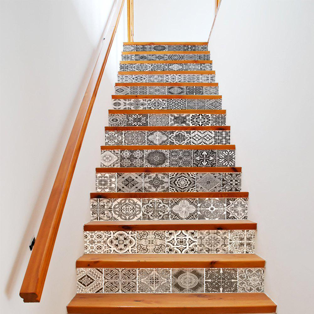 40 Ways To Decorate Your Staircase Wall 2018: 2018 Ceramic Tiles Patterns Style 13 Pieces Stair Sticker