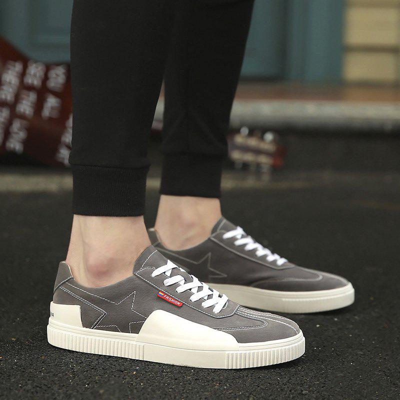 Stitched Star Color Block Casual Shoes - OYSTER 44