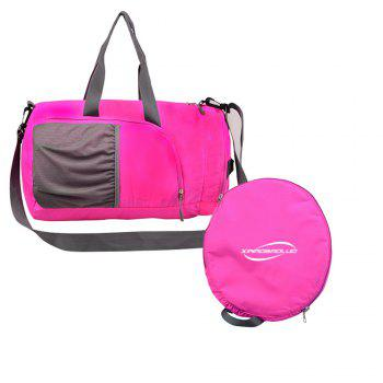 Superlight Promotional Polyester Travel Waterproof Duffel Bag - PINK PINK