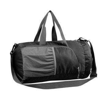 Superlight Promotional Polyester Travel Waterproof Duffel Bag - BLACK BLACK