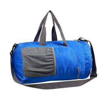 Superlight Promotional Polyester Travel Waterproof Duffel Bag - BLUE BLUE