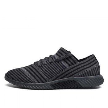 Lace-Up Striped Sport Shoes - 40 40