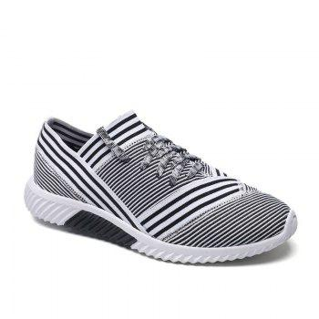 Lace-Up Striped Sport Shoes - WHITE 41