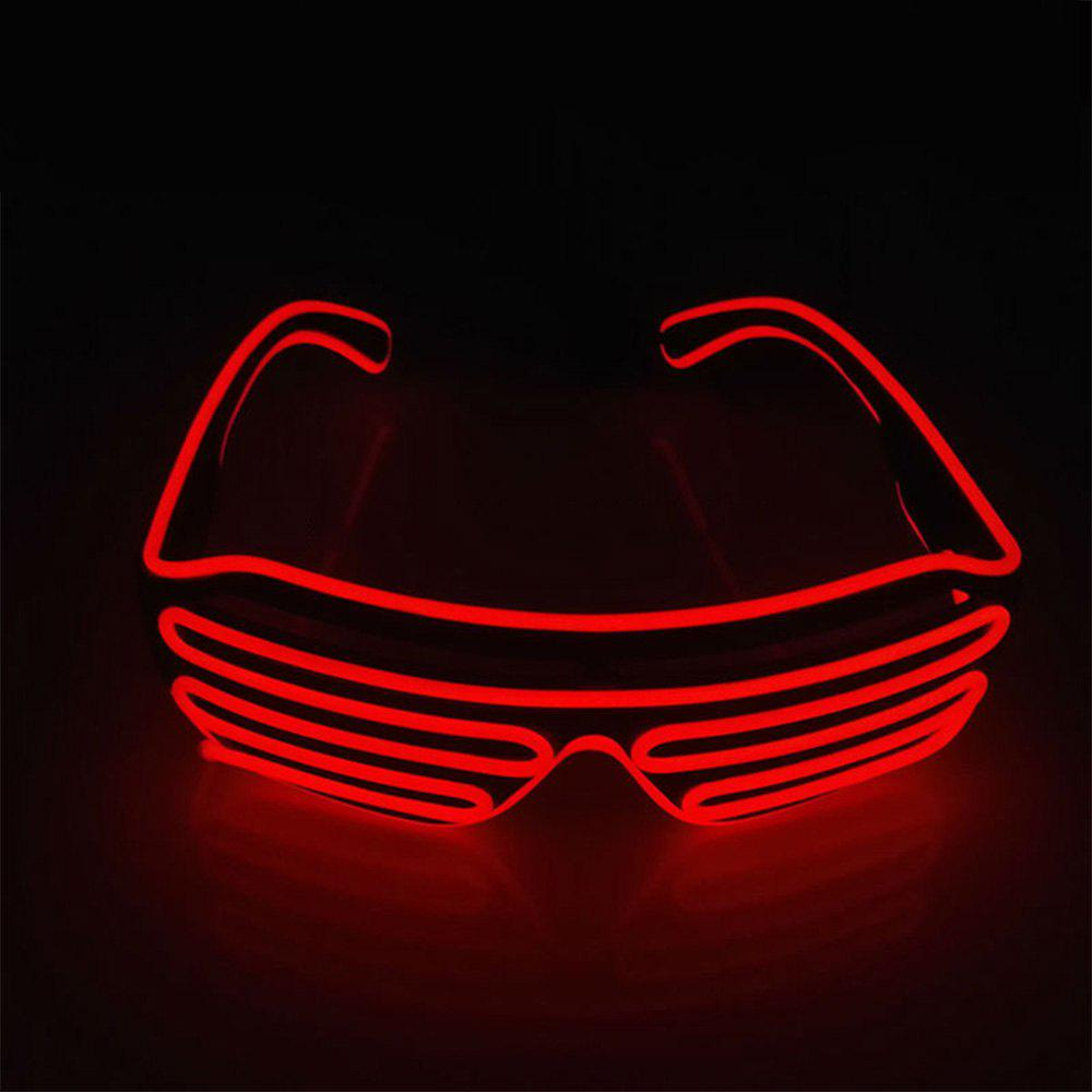 YouOKLight DC 3V 3 Modes Sound Control Flash El LED Glasses Luminous Party Lighting Colorful Glowing Classic Toys for Dance DJ Party Mask 1PC new arrival colorful neon led bulbs melbourne shuffle dance costume night lamp el wire bright ghost step suit for concert party