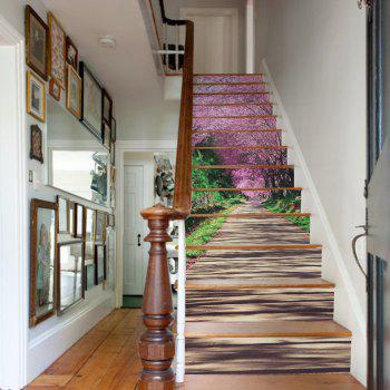 Sakura Trail Style 13 Pieces Stair Sticker Wall Decor - MIXED COLOR