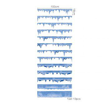 Icicle Style 13 Pieces Stair Sticker Wall Decor - MIX COLOR