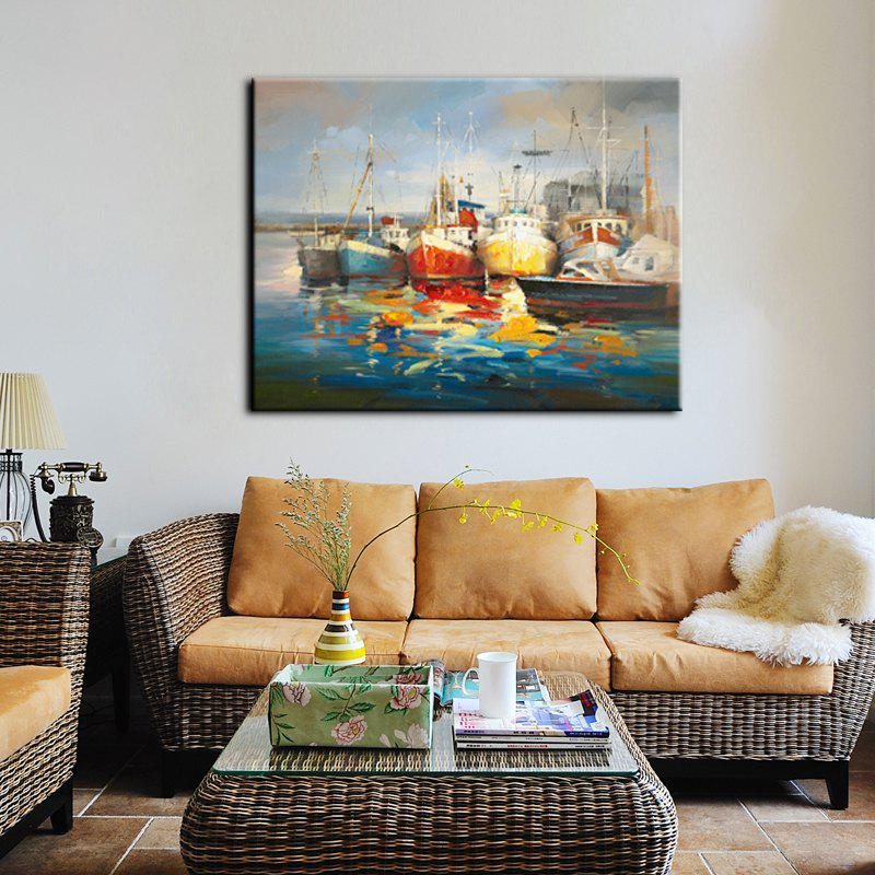 Yhhp Hand-Painted High-Definition Steamer Pictures To Print Simulation Oil Painting Wall Art On Canvas Unframed - COLORMIX