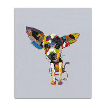 Yhhp Hand-Painted High-Definition Dog Pictures To Print Simulation Oil Painting Wall Art On Canvas Unframed - COLORMIX 20 X 24 INCH (50CM X 60CM)