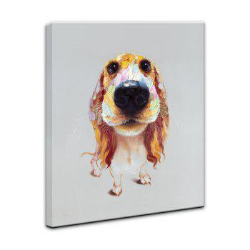 Yhhp Hand-Painted High-Definition Long Ears Dog Pictures To Print Simulation Oil Painting Wall Art On Canvas Unframed - COLORMIX 20 X 24 INCH (50CM X 60CM)
