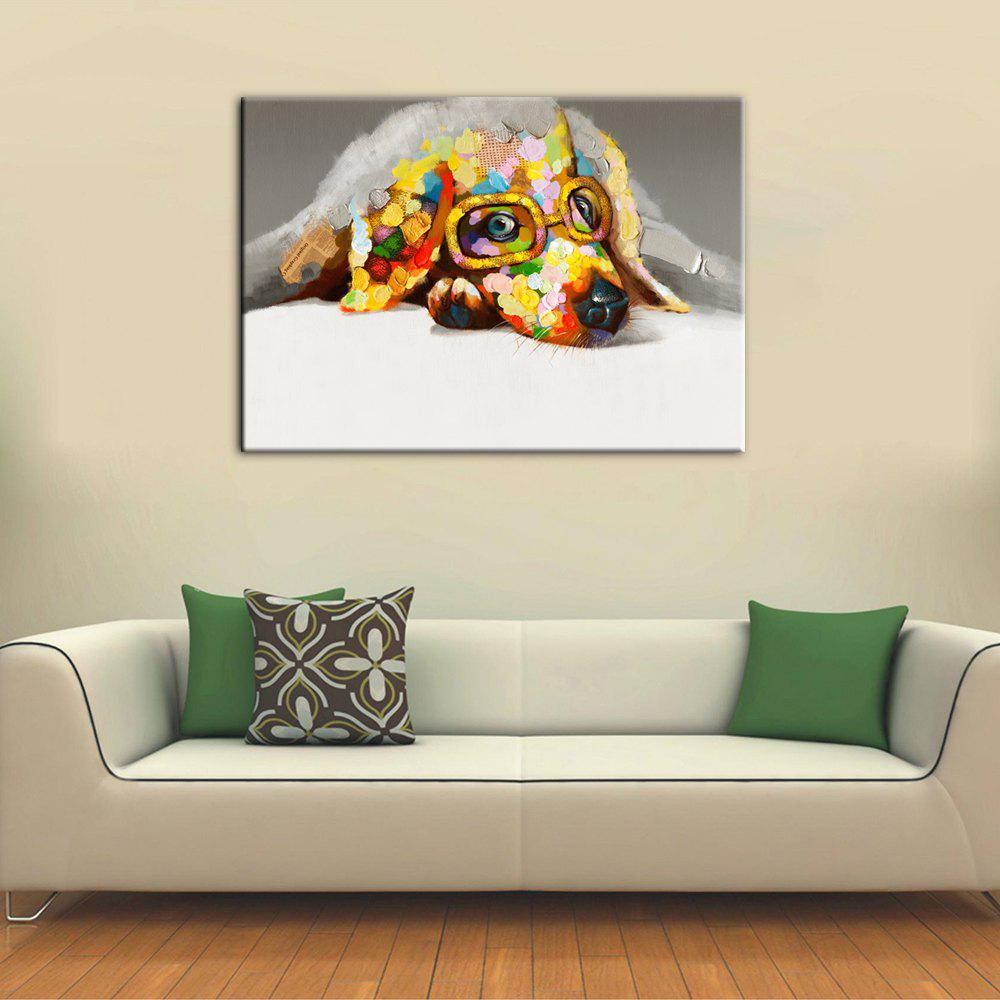yhhp hand painted high definition bespectacled dog pictures to
