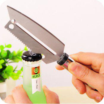 Multifunctional Easy Cut Stainless Steel Knife Fruit Vegetable Peeler -  SILVER