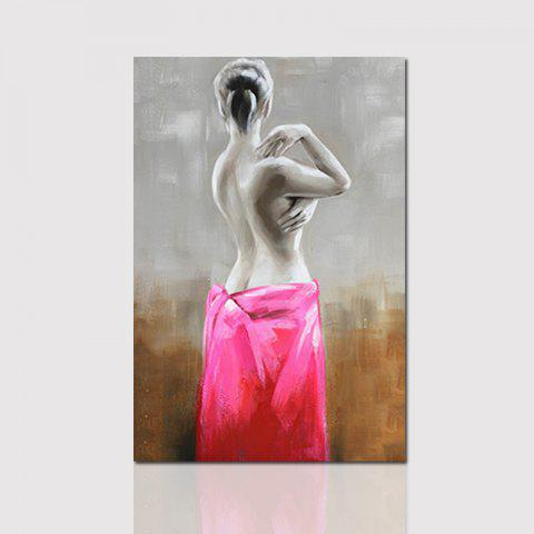 Unframed Canvas Half Naked Woman Living Room Hallway Decoration Decorative Painting - COLORMIX 80CMX120CM