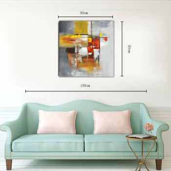 Hx-Art Unframed Canvas Abstract Living Room Bedroom Corridor Decoration Painting - COLORMIX 80CMX80CM