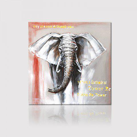 Hx-Art Box Canvas Animal Elephant-Free Living Hallway Décoration Peinture Décor - multicolore 80CMX80CM