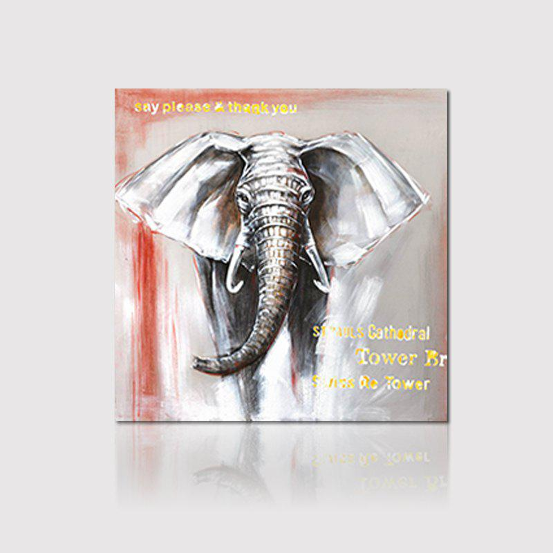 Hx-Art Box Canvas Animal Elephant-Free Living Room Hallway Decoration Painting - COLORMIX 80CMX80CM