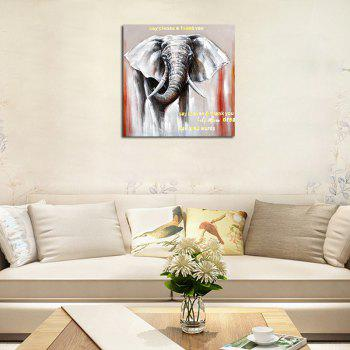 Hx-Art No Frame Canvas Animals Elephants Living Room Office Decorative Paintings - COLORMIX 80CMX80CM